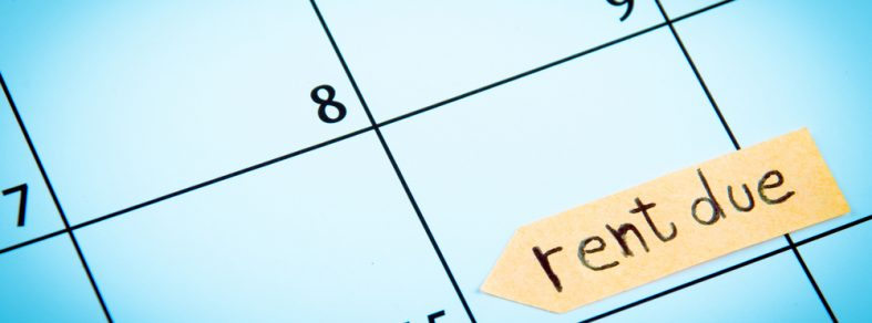 Calendar specifying the date for a due rent