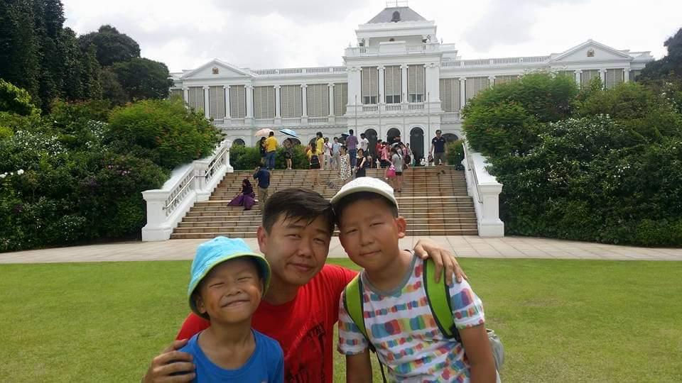 Roy Chong spending family time with his sons