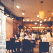 Blurred shot of a cafe
