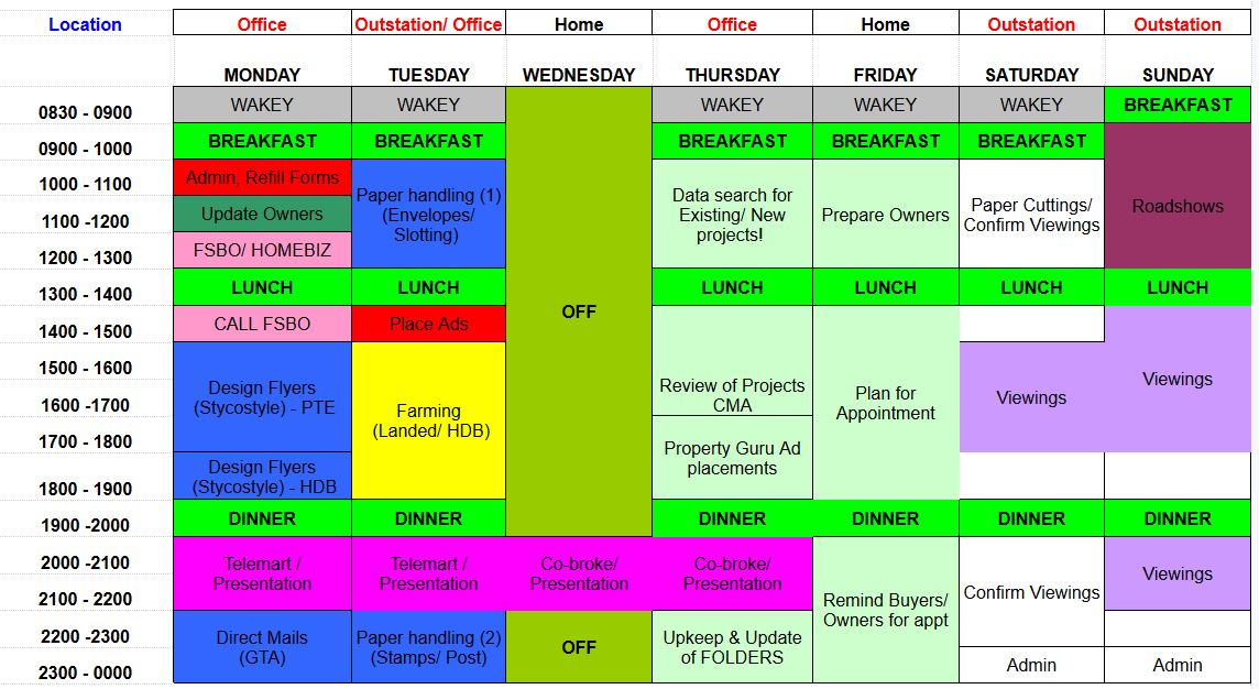 shanel liew timetable