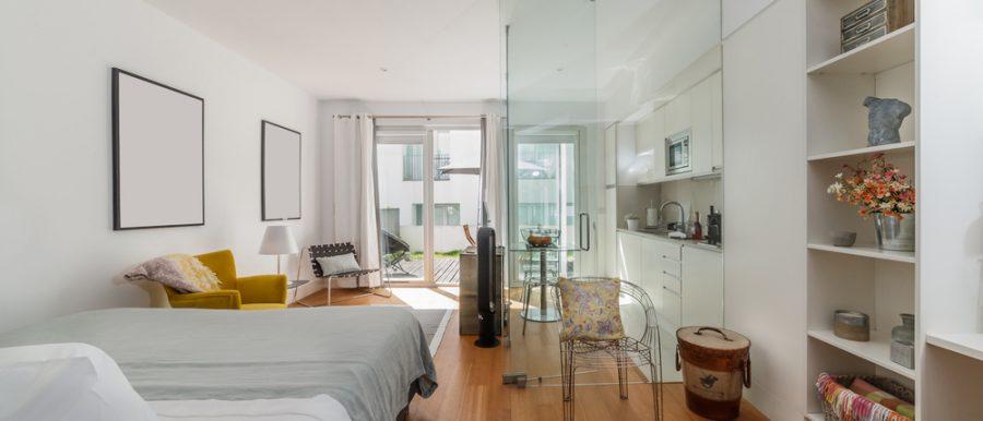 A small, modern apartment