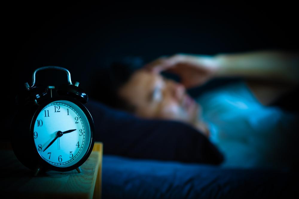 Sleeping next to a clock