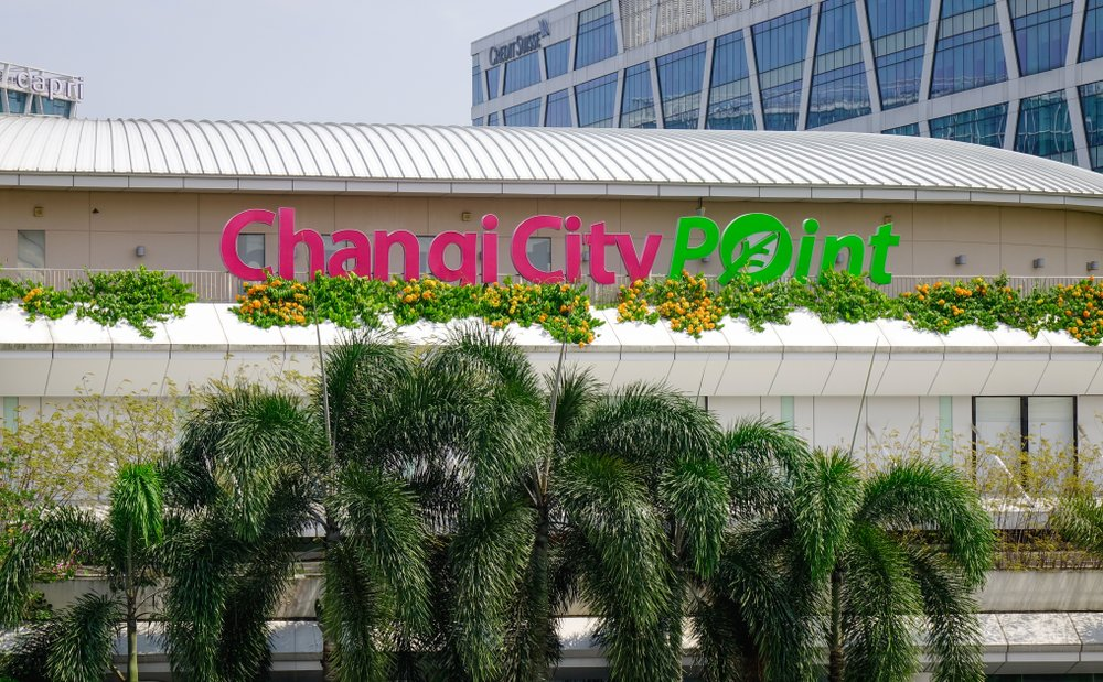 The exterior of Changi City Point.