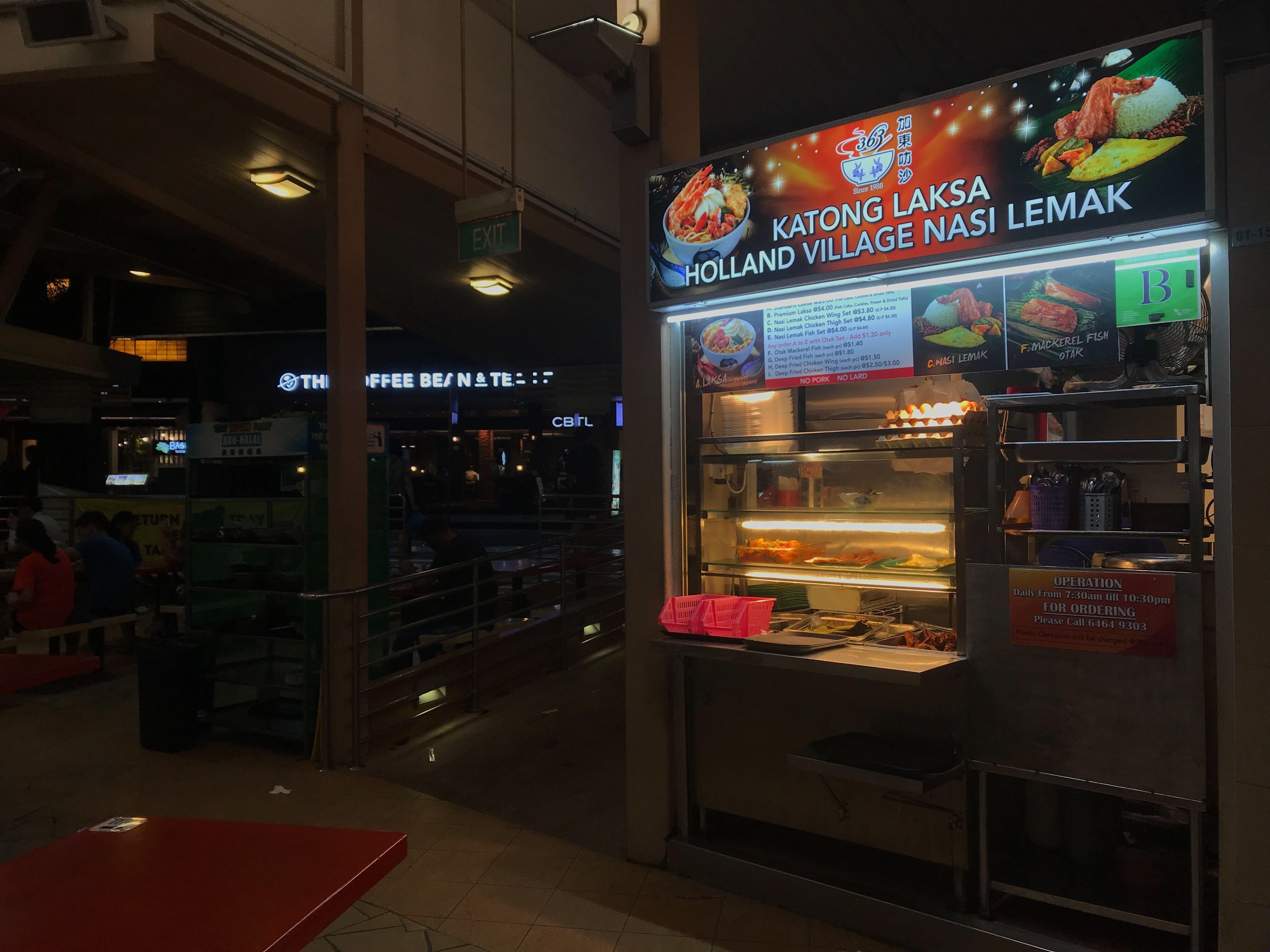 363 Laksa sells Katong Laksa and Holland Village Nasi Lemak.