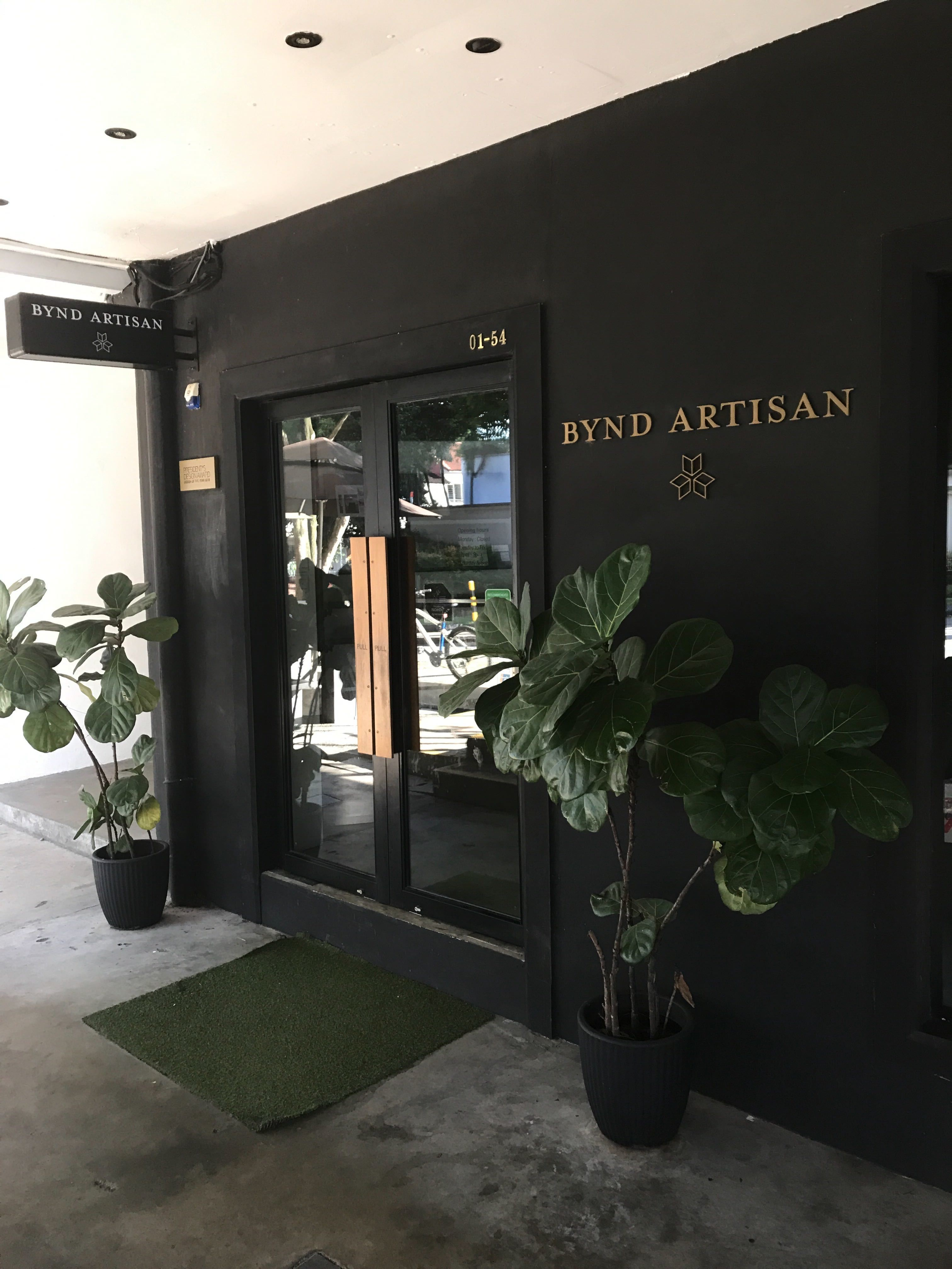 Bynd Artisan's store front is designed with a touch of class.