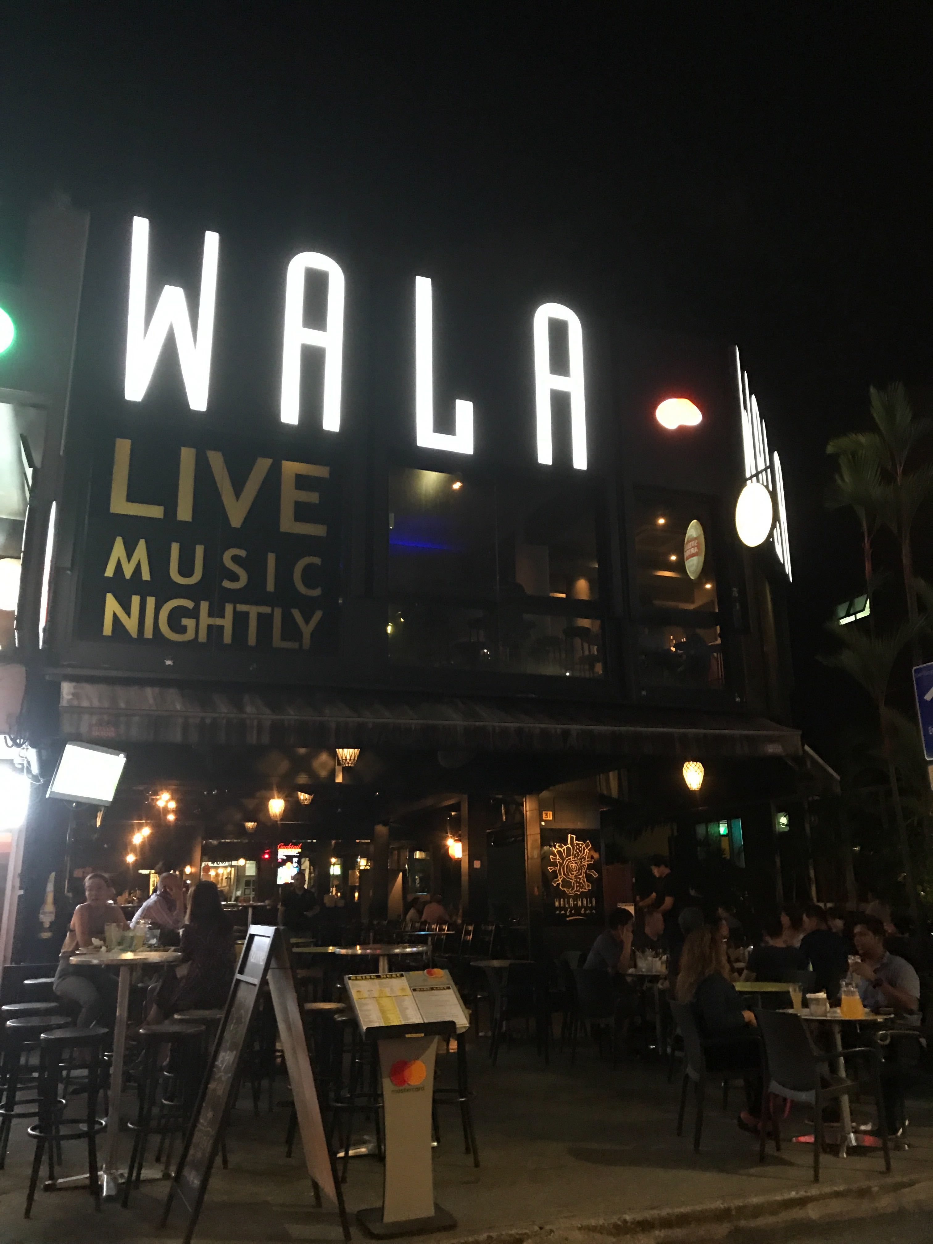 The lighting in Wala Wala provides a soothing ambience for customers.