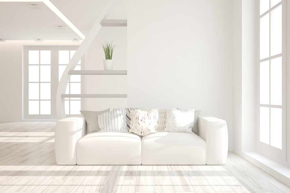 A living room with good lighting and exposure.
