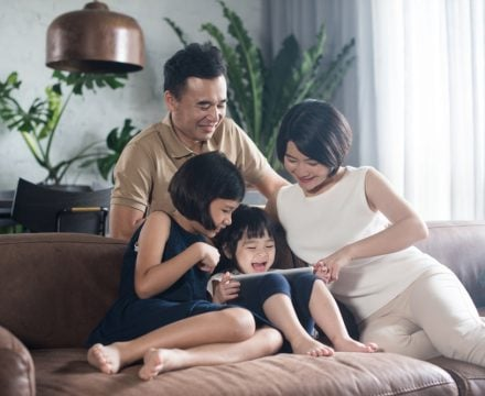 young family children new home wealth
