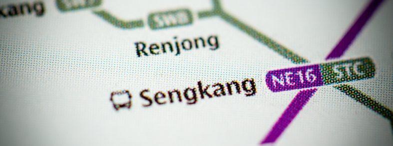 Sengkang MRT map