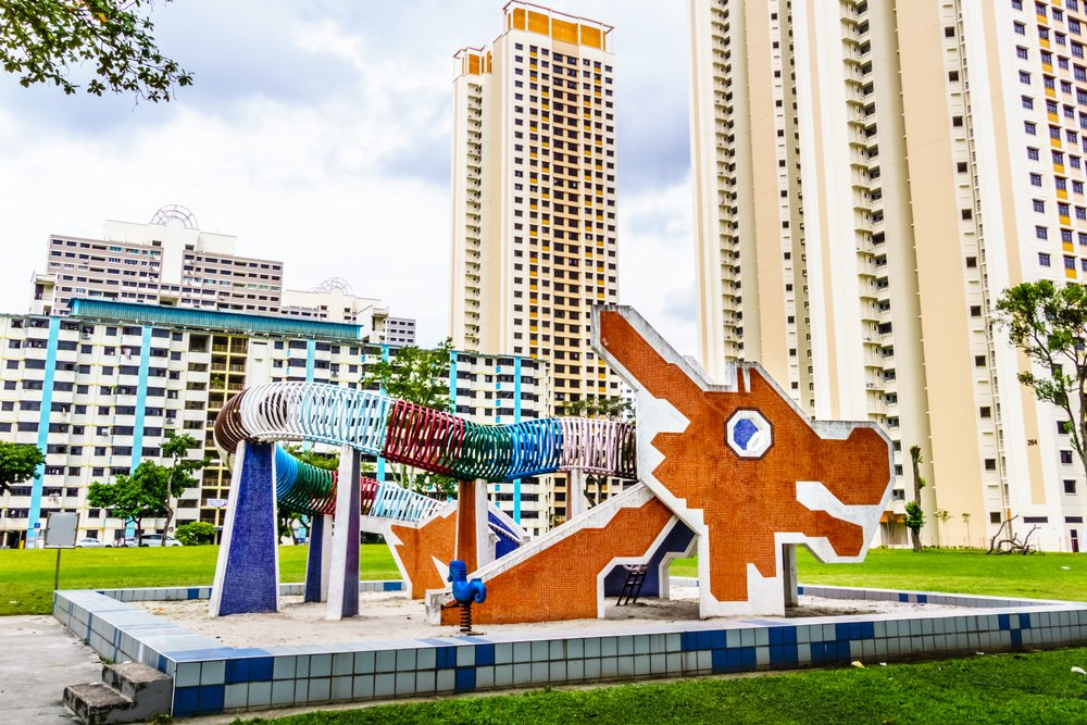 Mosaic Dragon Playground in Toa Payoh