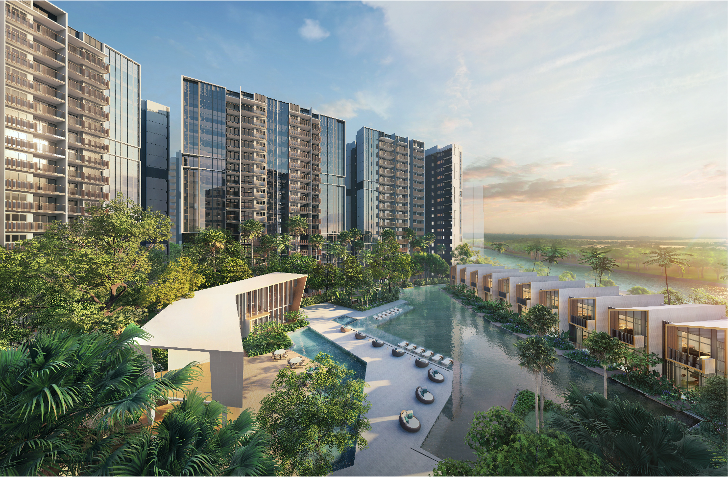 riverfront residences is a private condominium offering beautiful views of the serangoon river
