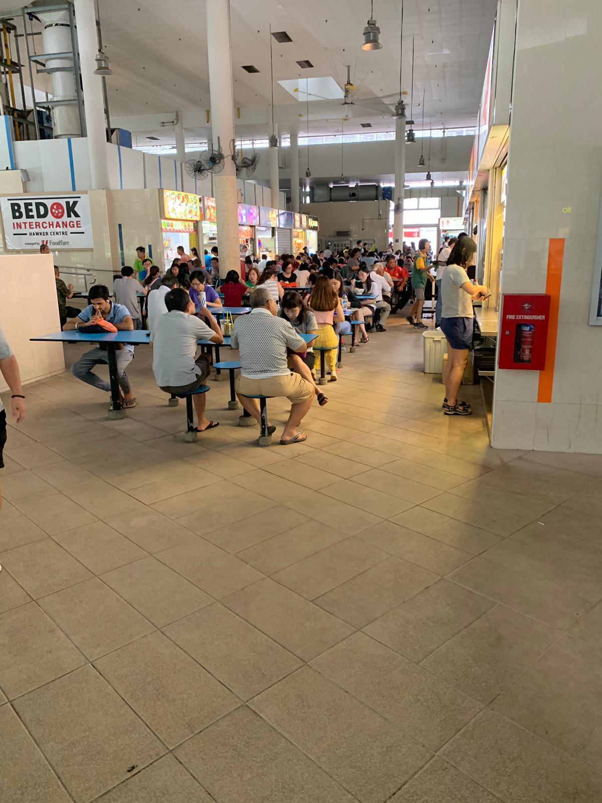Bedok Interchange Hawker Centre interior