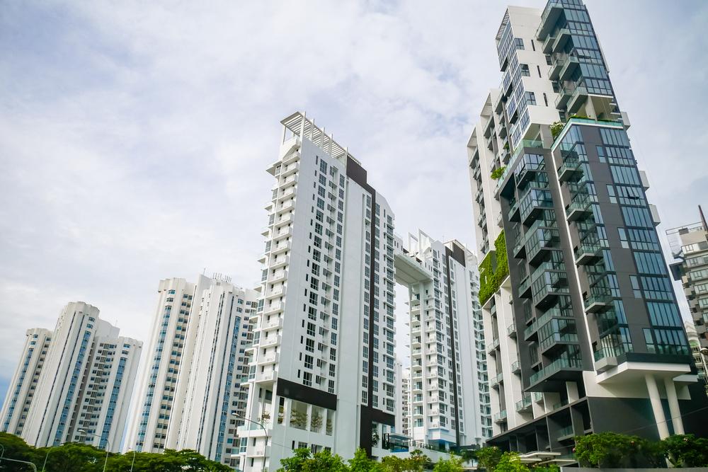 The exterior of condominiums.
