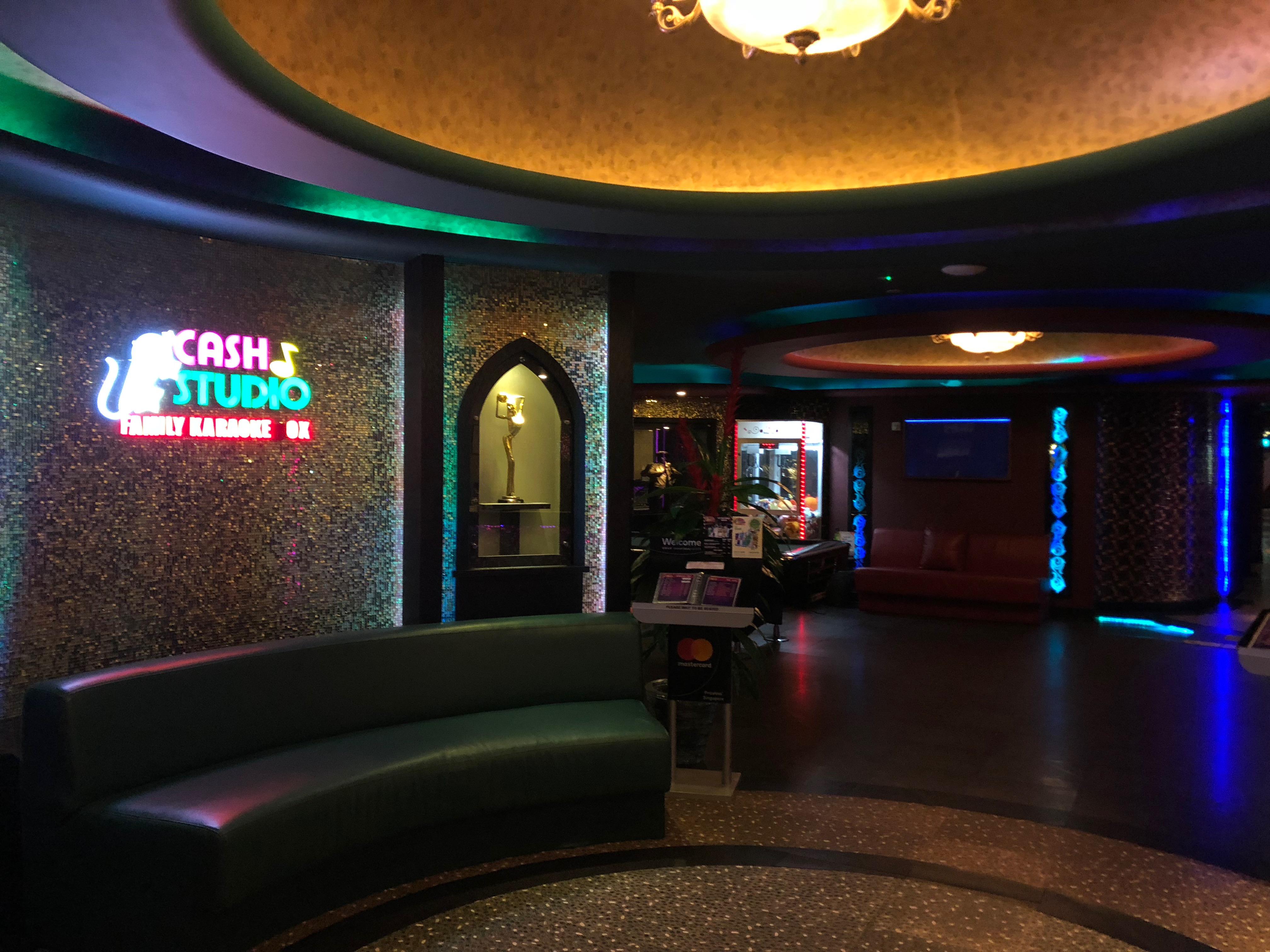 The interior of Cash Studio Family Karaoke.