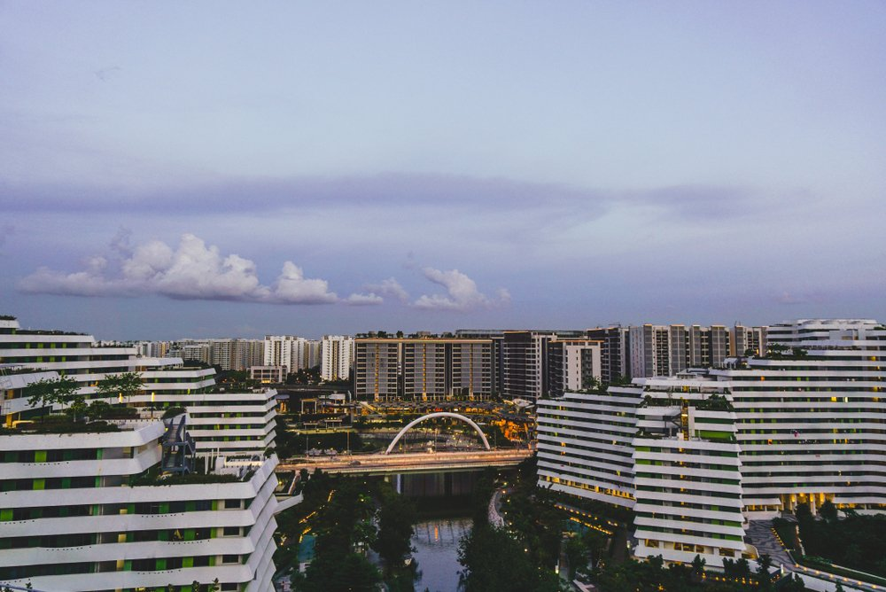 An overview of Punggol, overlooking Punggol Waterway and HDB housing.