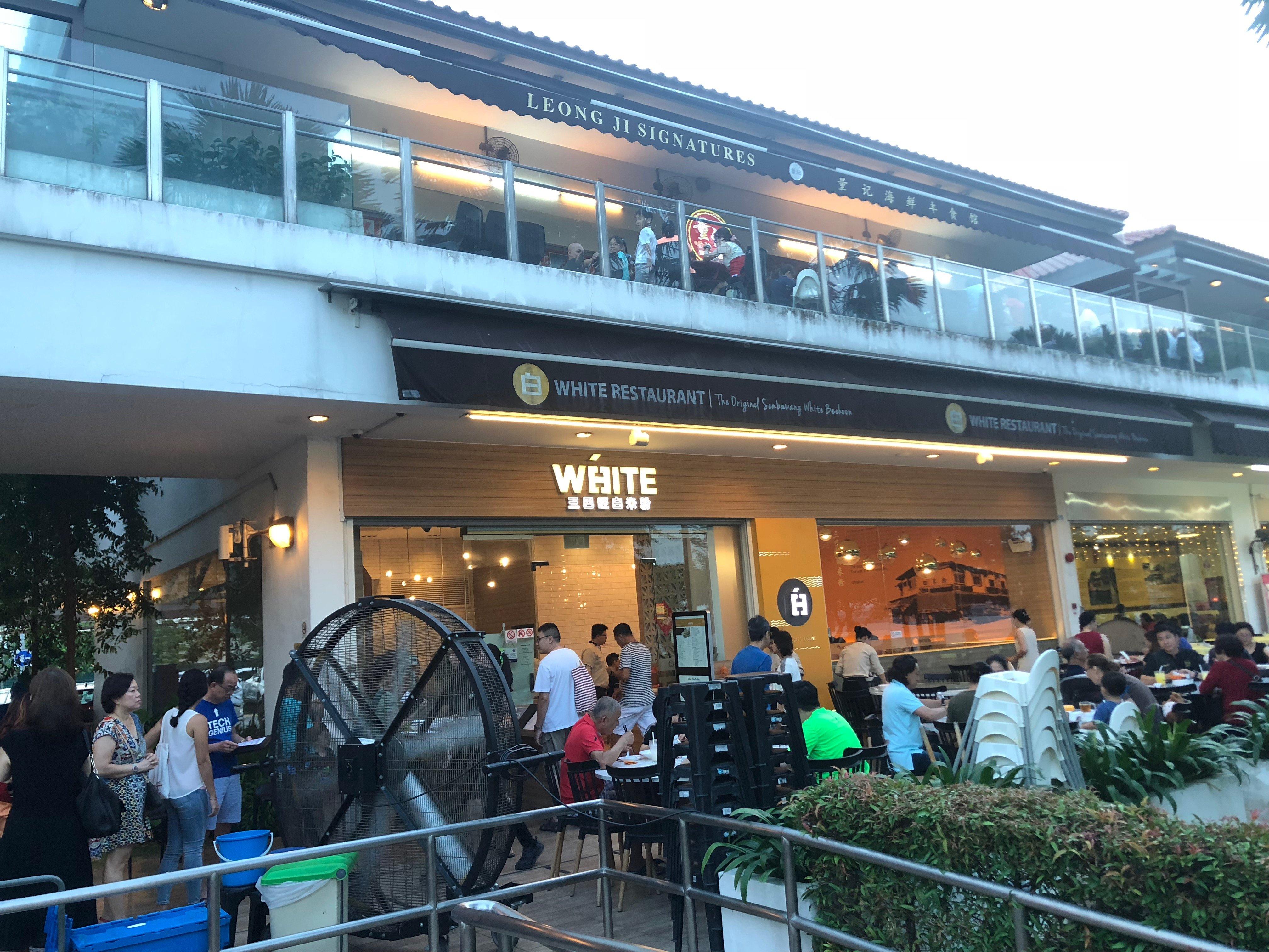 Fully packed White Restaurant.
