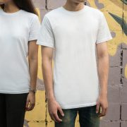 guy and girl in white shirts
