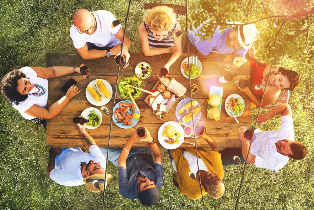 Family Enjoying Alfresco Dining