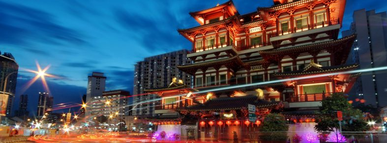 Time-laspe of Buddha Tooth Relic Temple