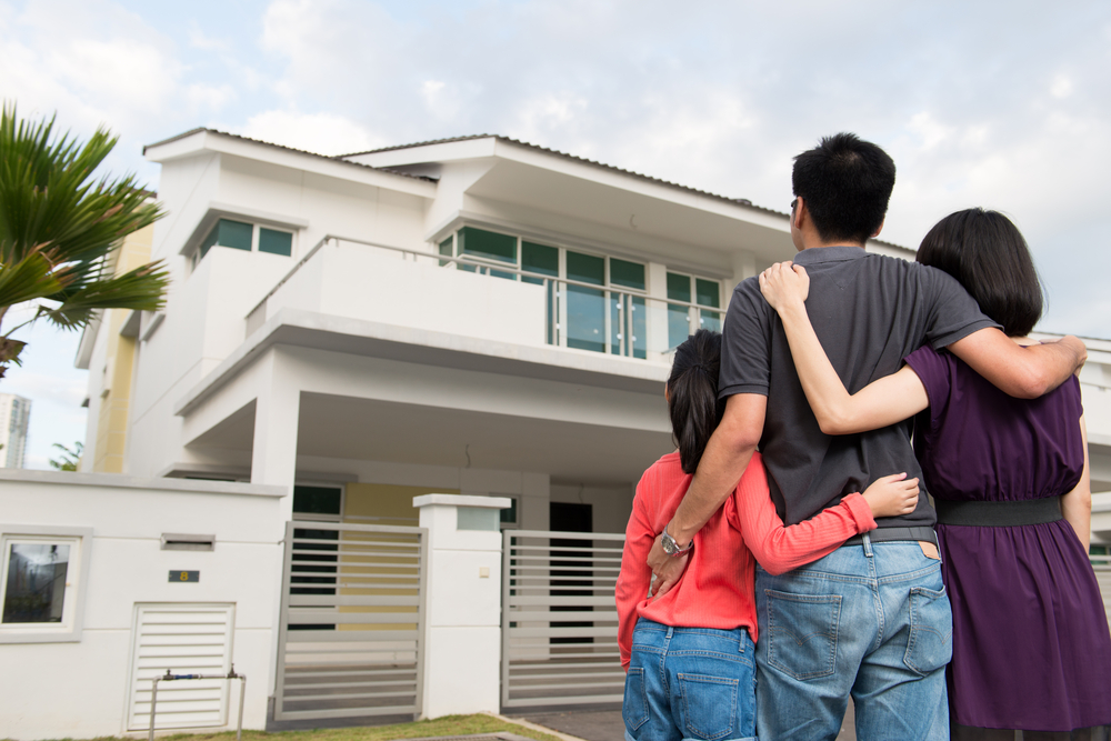 Family Thinking About Their Dream House