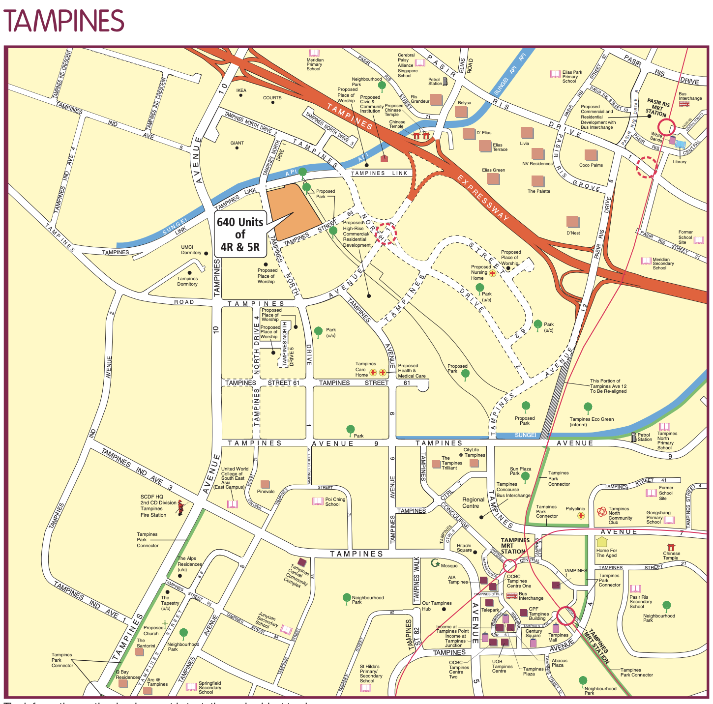 Map of Tampines BTO Plan