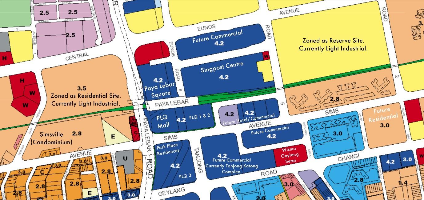 Map of Paya Lebar Quarter