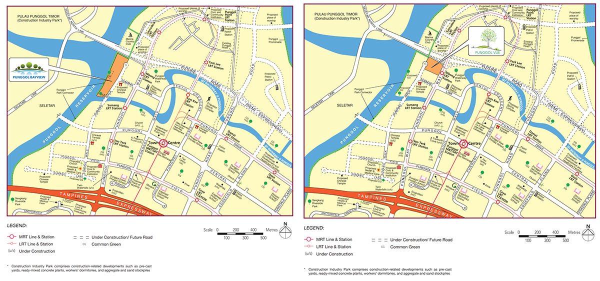 punggol bayview vue map hdb bto 2014