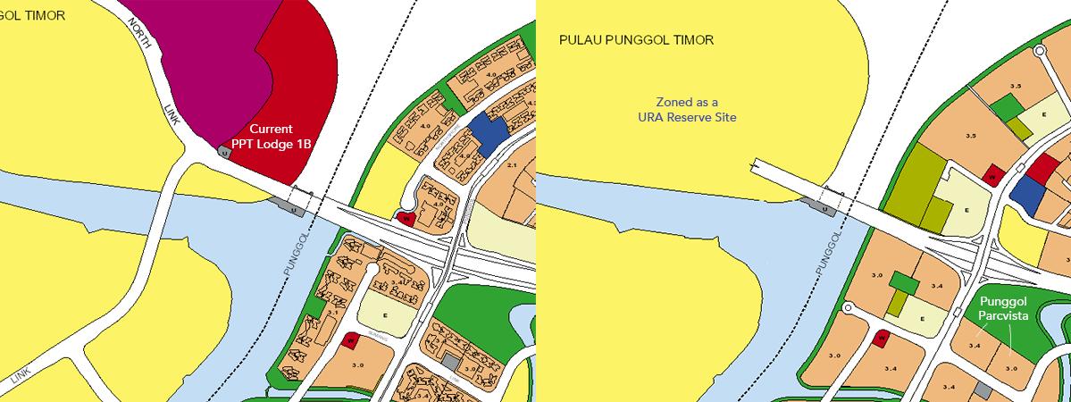 URA Master Plan Punggol HDB dorm