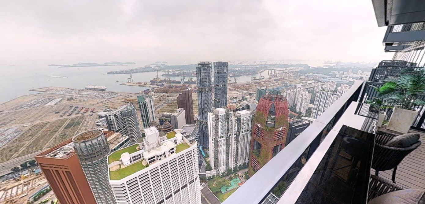 wallich residences james dyson penthouse balcony view