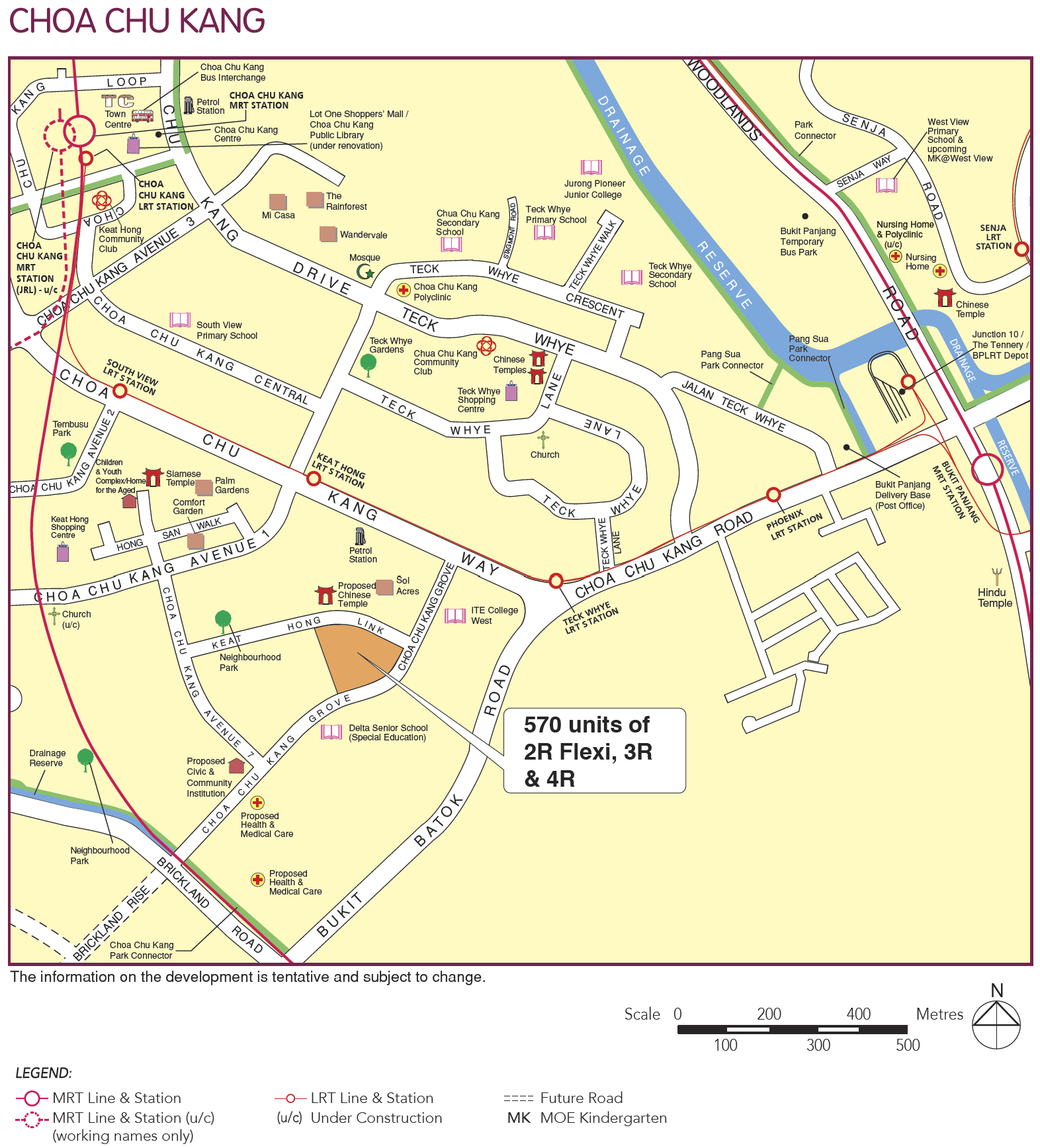 choa chu kang hdb bto august 2020 map