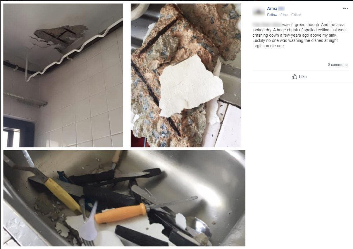 concrete spalling collapse hdb flat