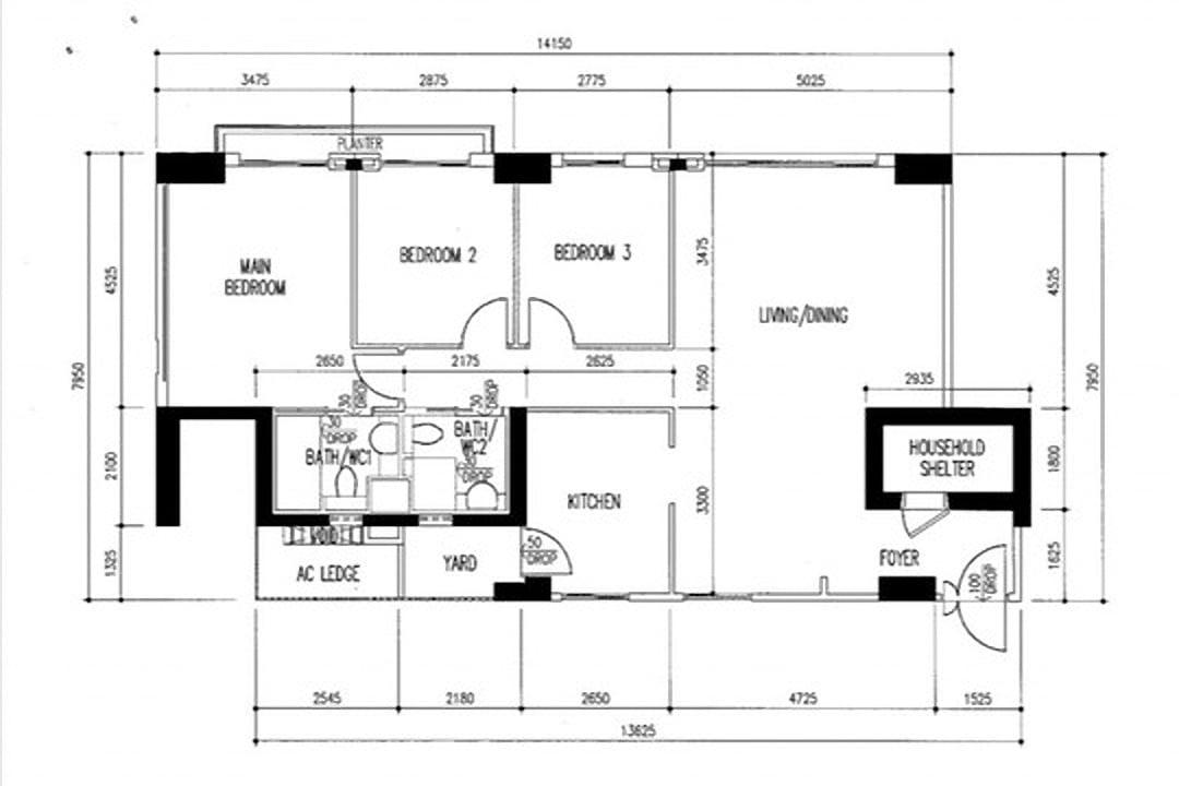 pinnacle@duxton floor plan 5-room hdb flat