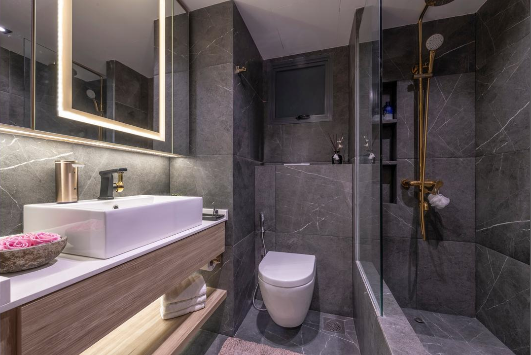 pinnacle at duxton hdb flat interior master bathroom