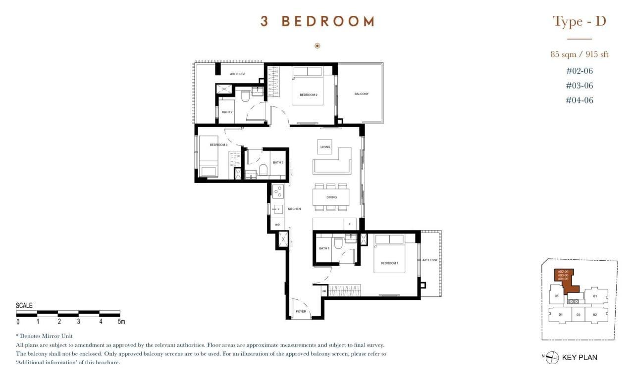 38 jervois floor plan 3-bedroom