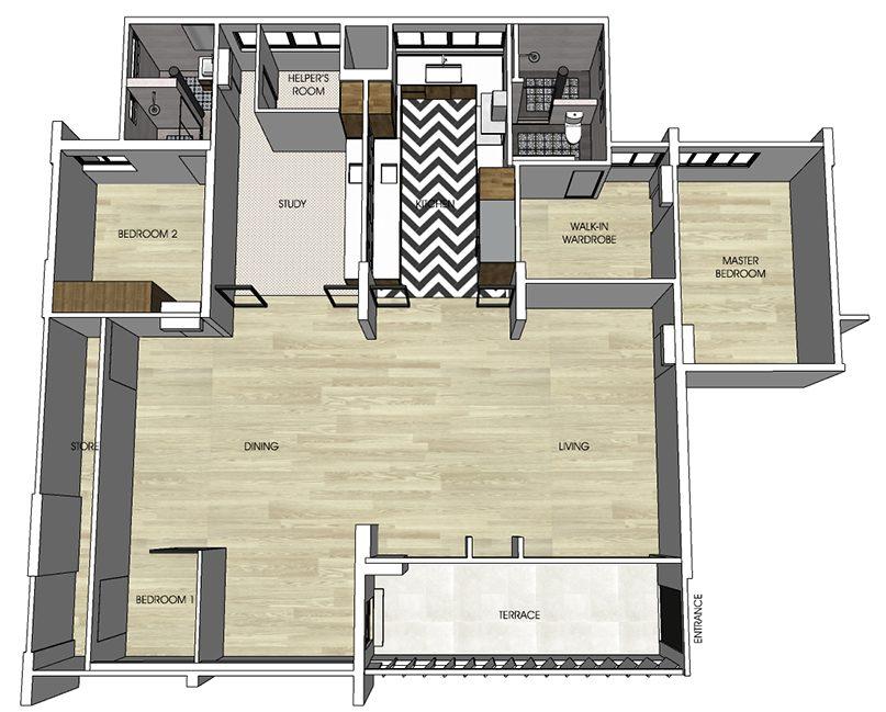 ang mo kio jumbo flat floor plan
