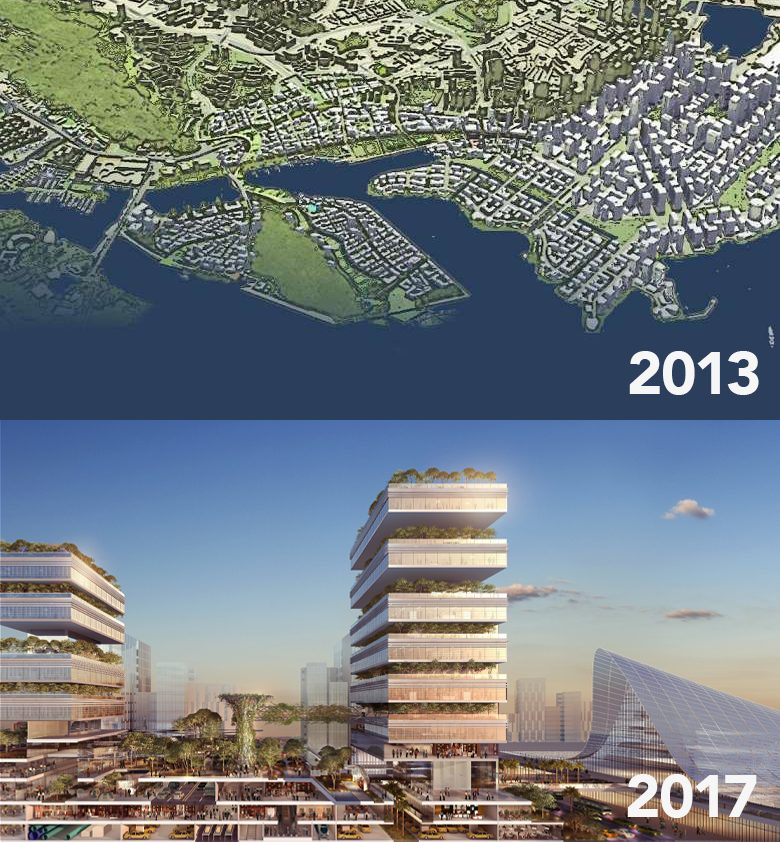 greater southern waterfront plans photos visuals marina bay singapore