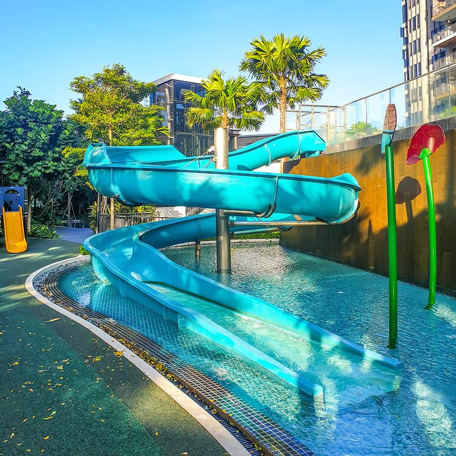high park residences water slide