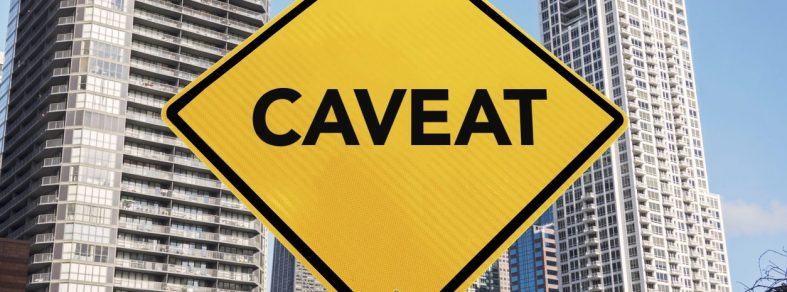 lodging a caveat property transaction