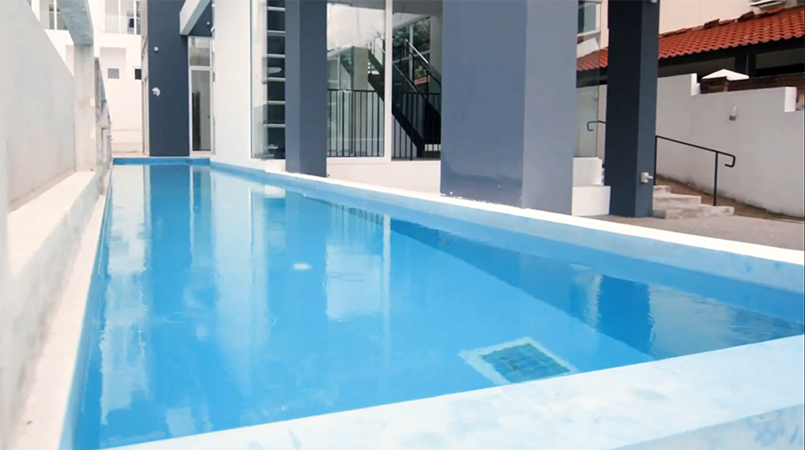 pasir ris bungalow pool