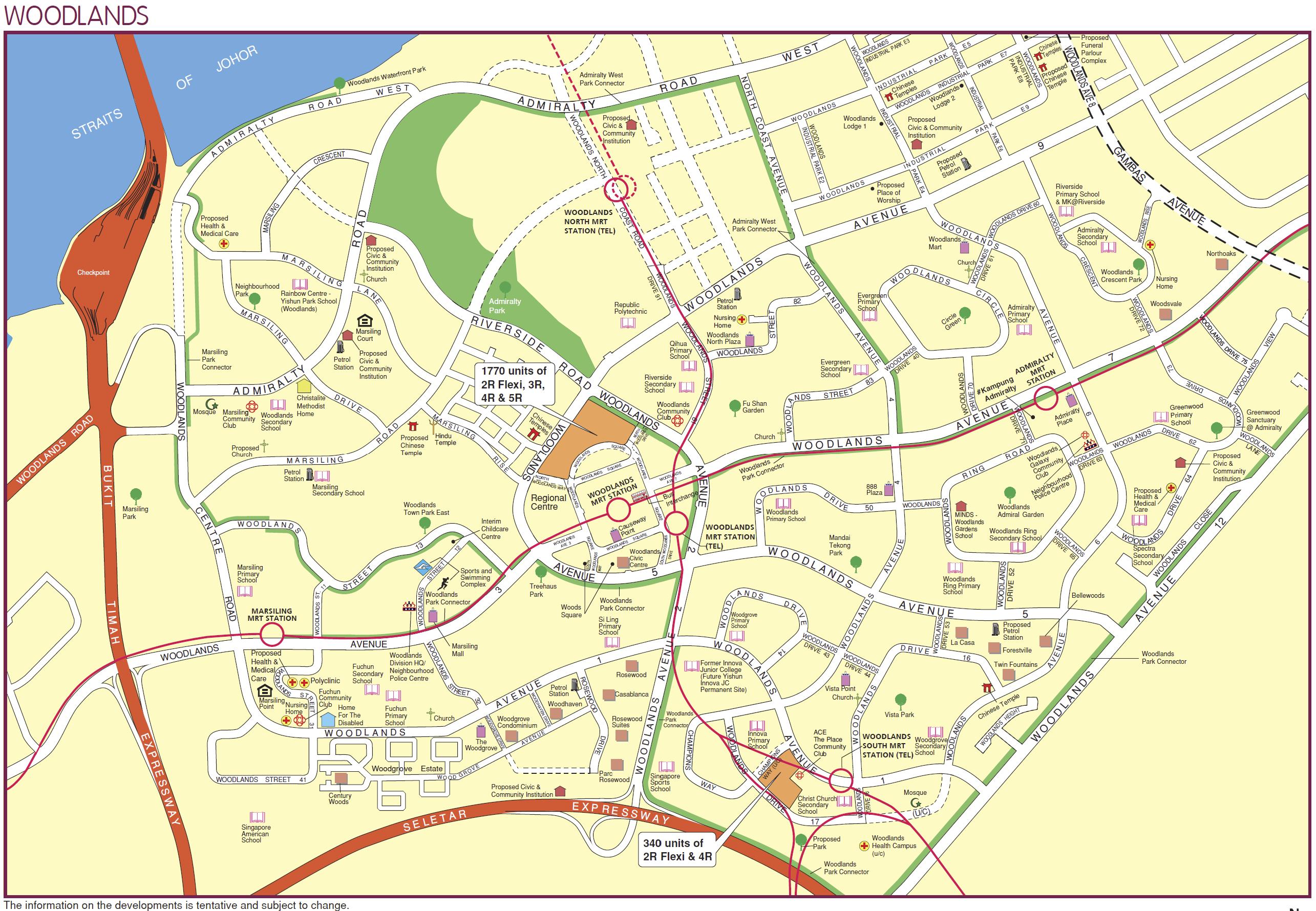 woodlands hdb bto august 2020 map