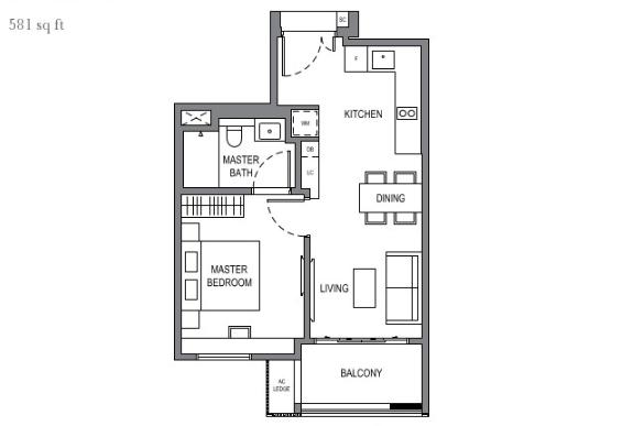 parksuites condo 1 bedroom floor plan