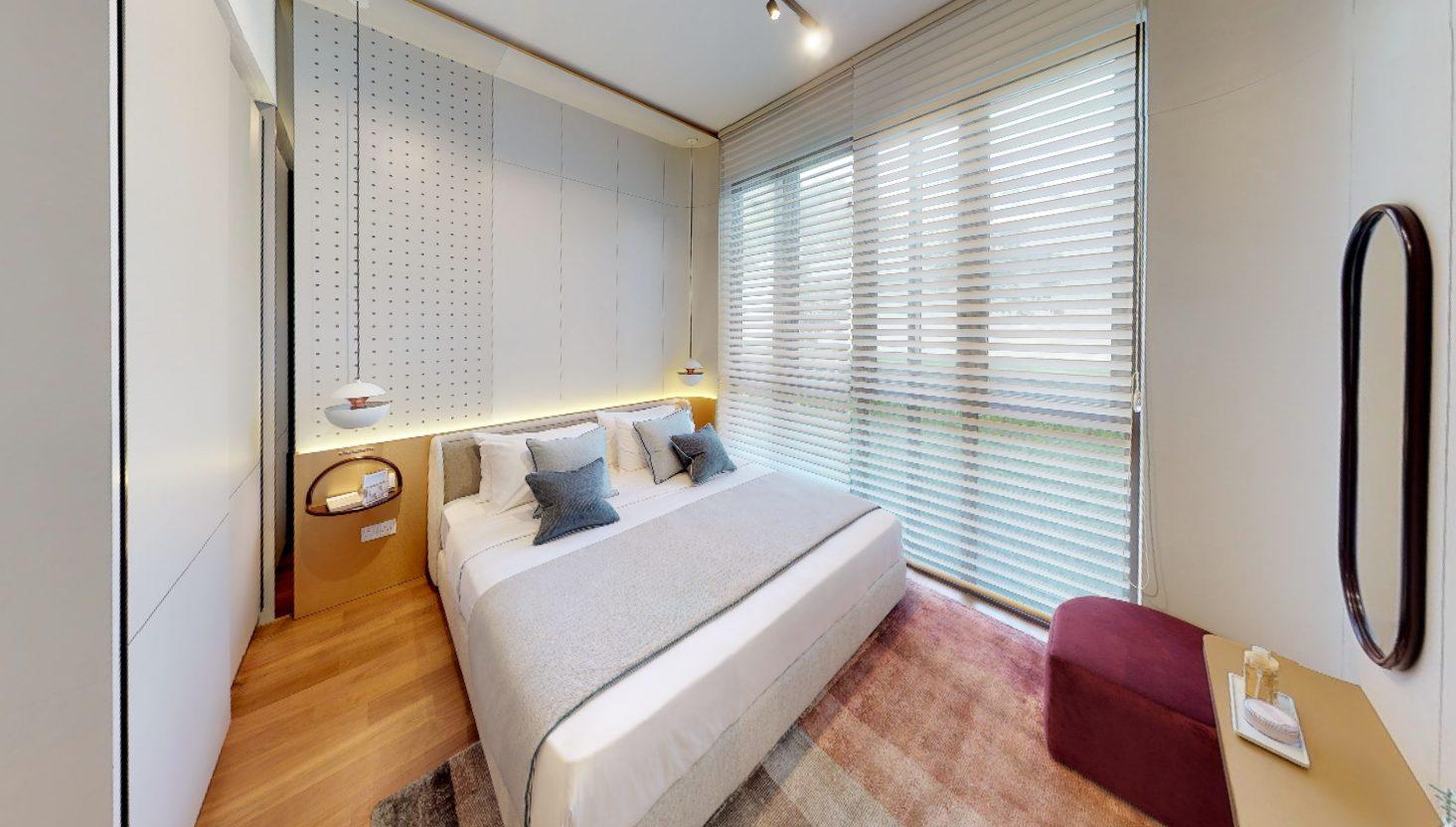 parksuites condo showflat master bedroom