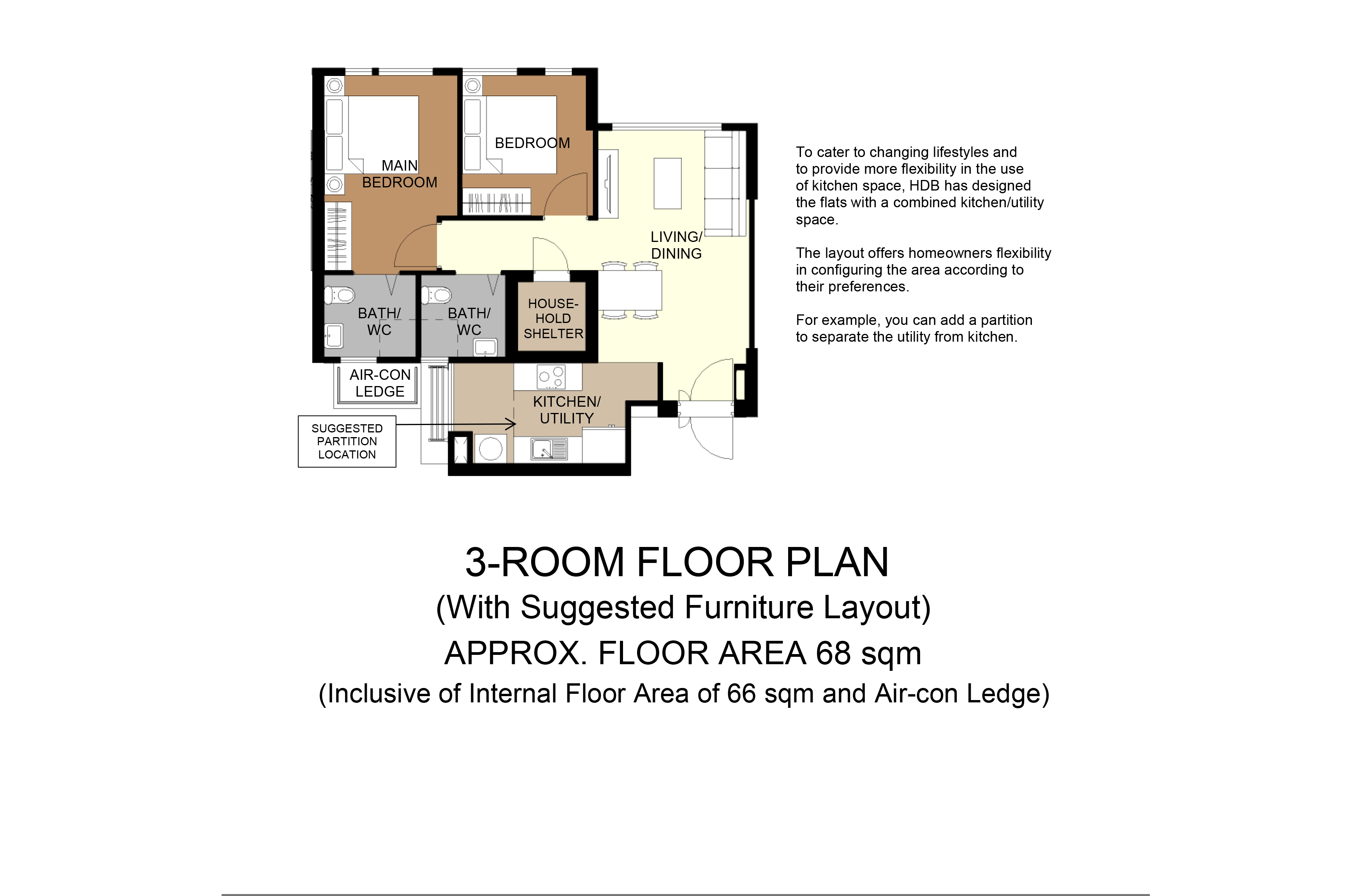 aug 2020 bto floor plan dakota one