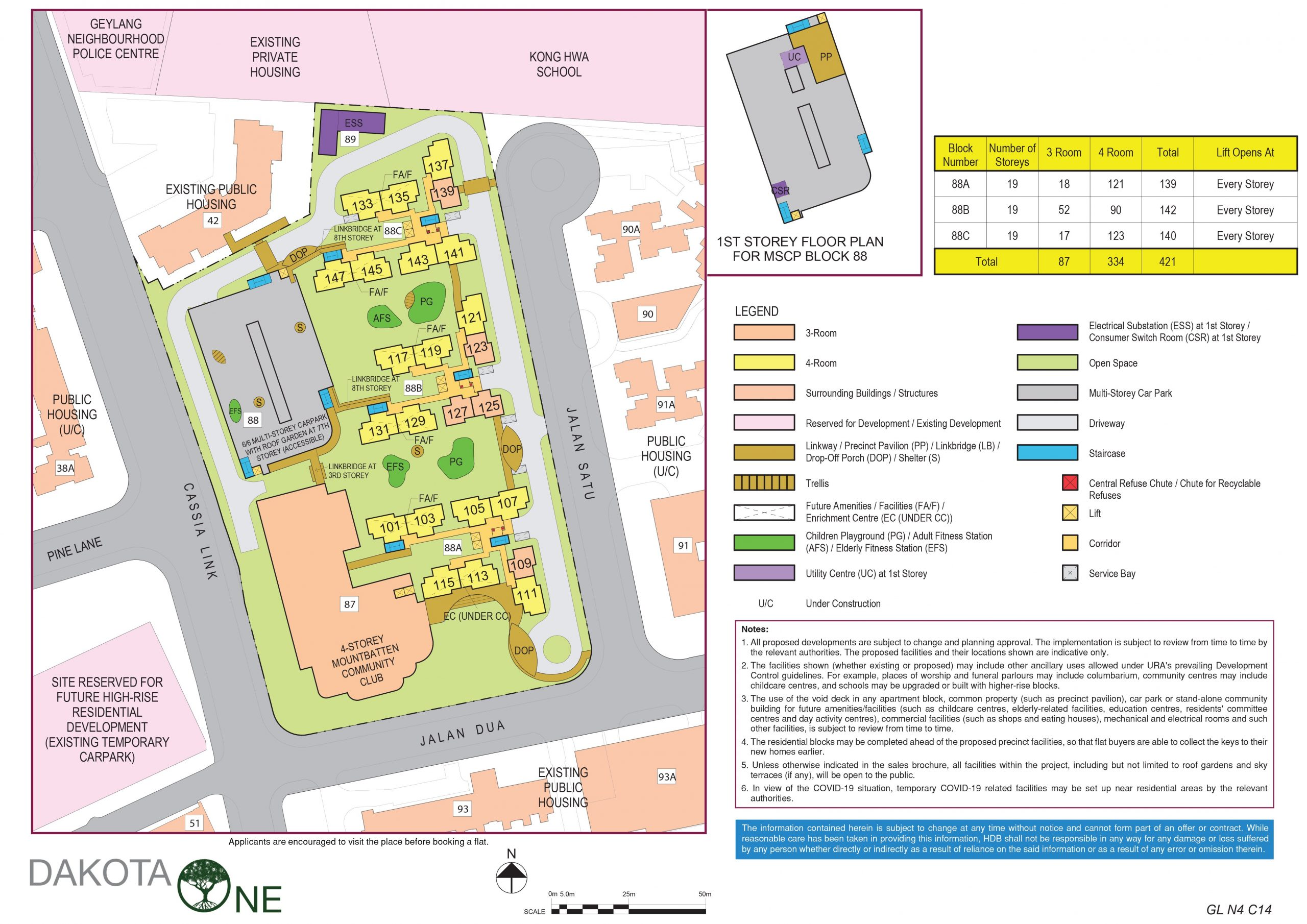 aug 2020 hdb bto site plan dakota one