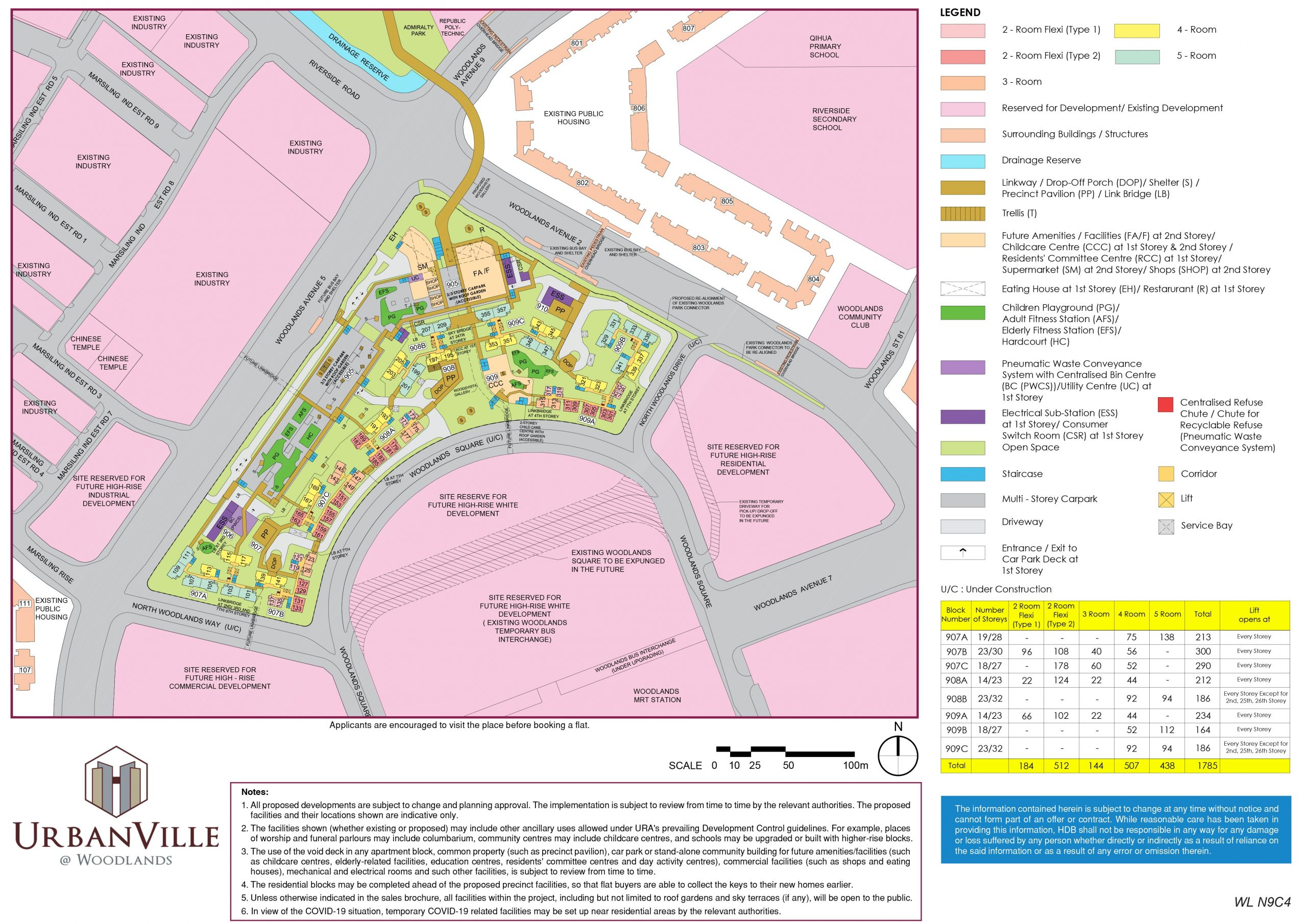 aug 2020 hdb bto site plan urbanville woodlands