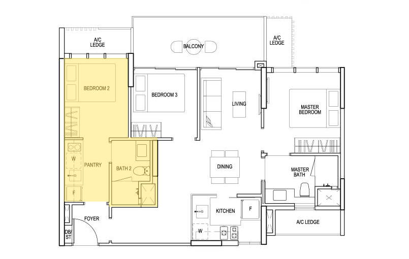 sims urban oasis dual key floor plan