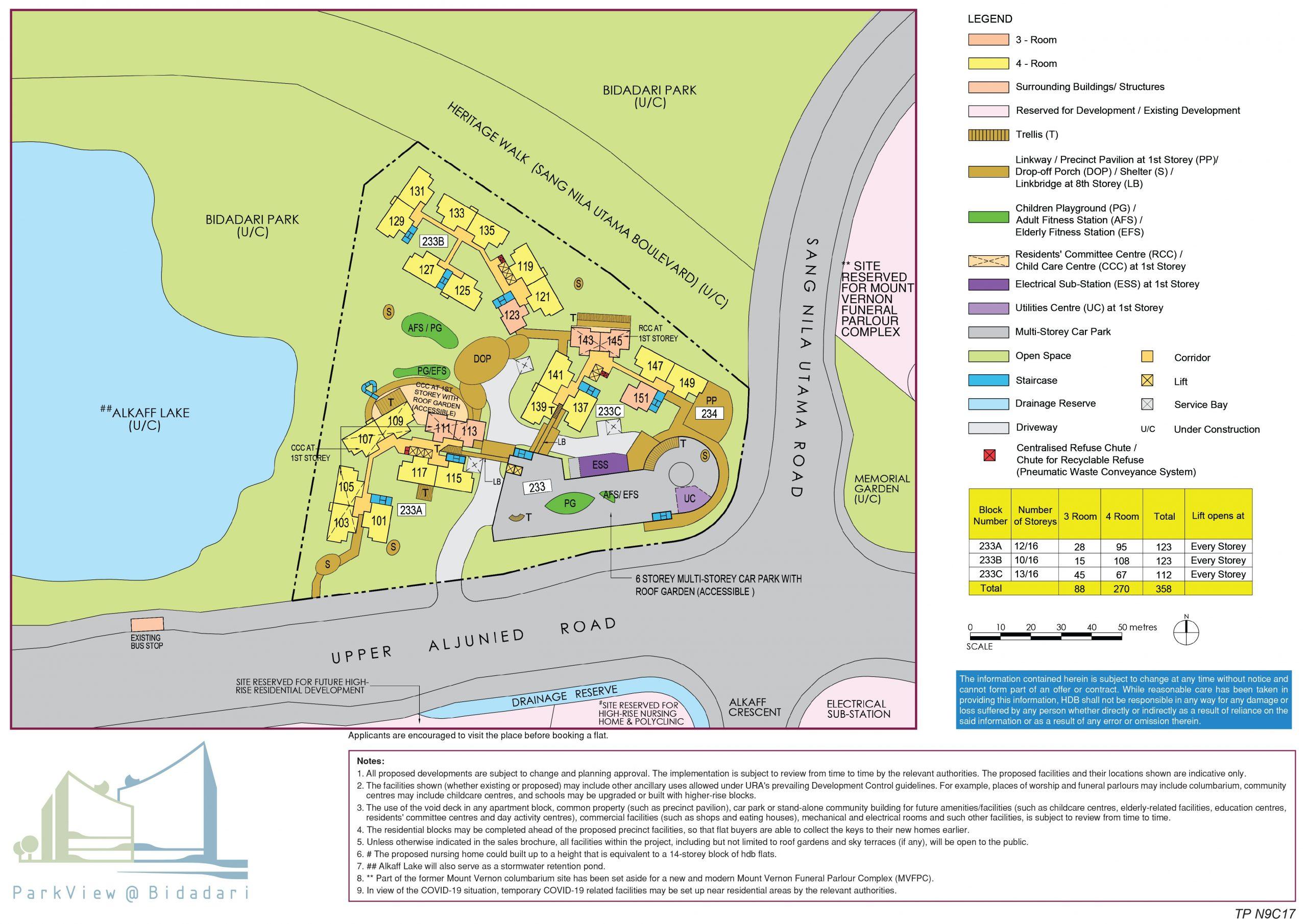 parkview at bidadari bto site plan