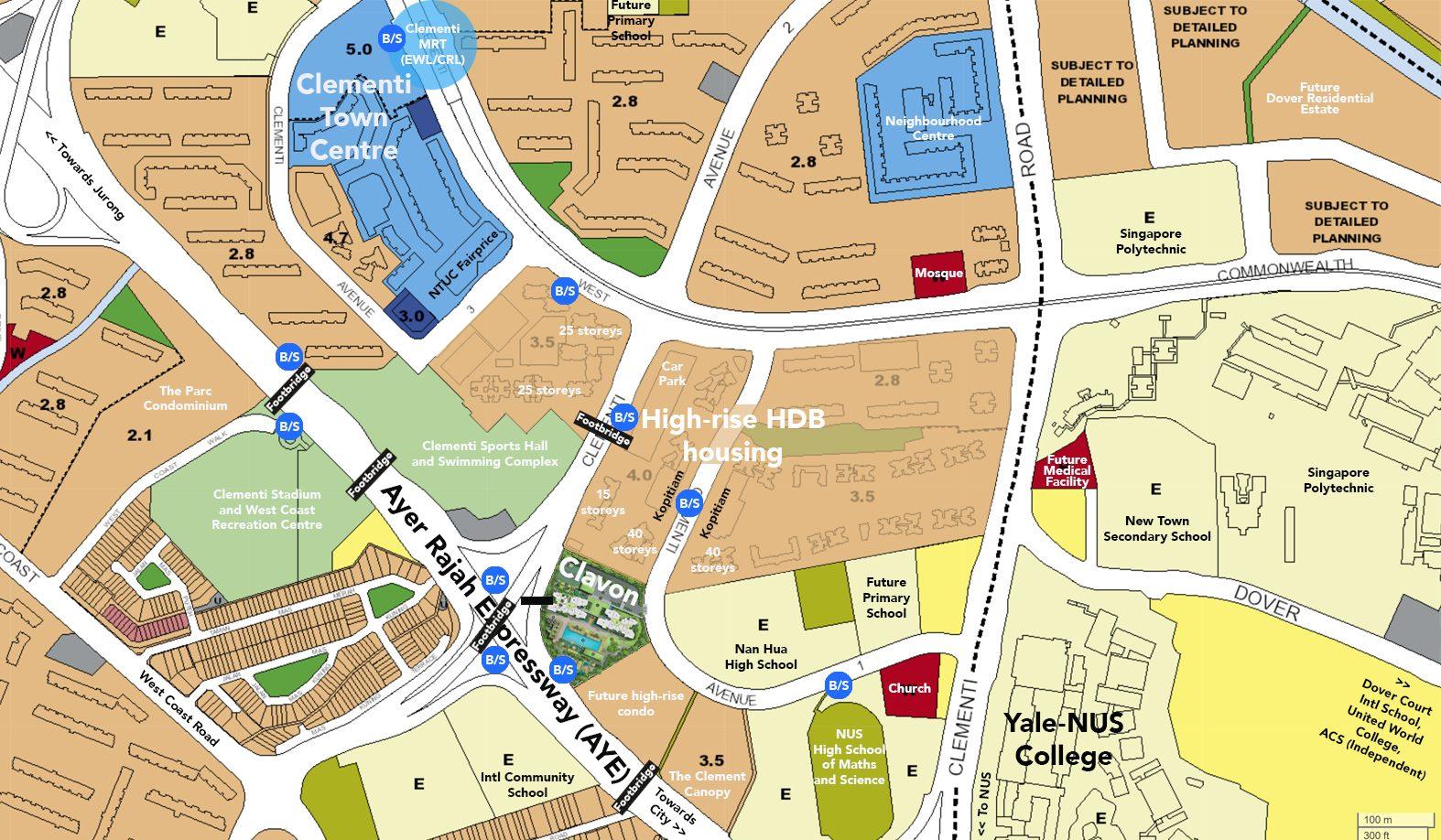 clavon condo amenities ura master plan map