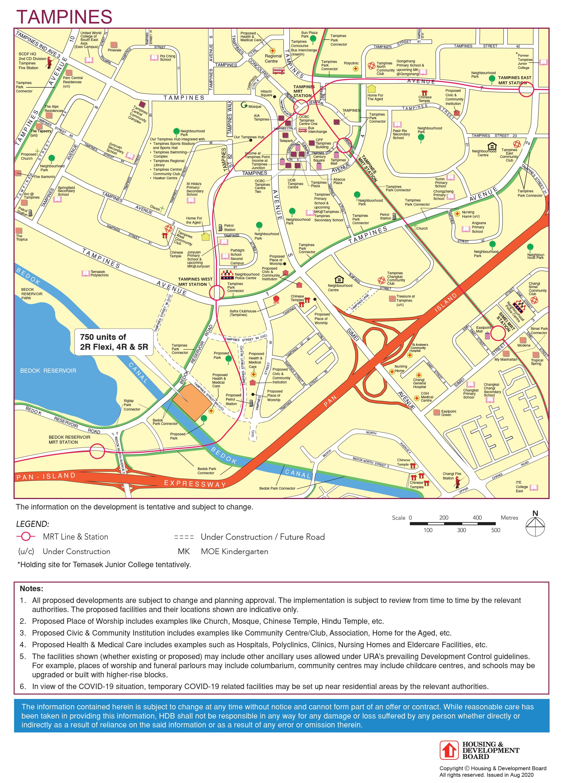 hdb nov 2020 tampines bto map