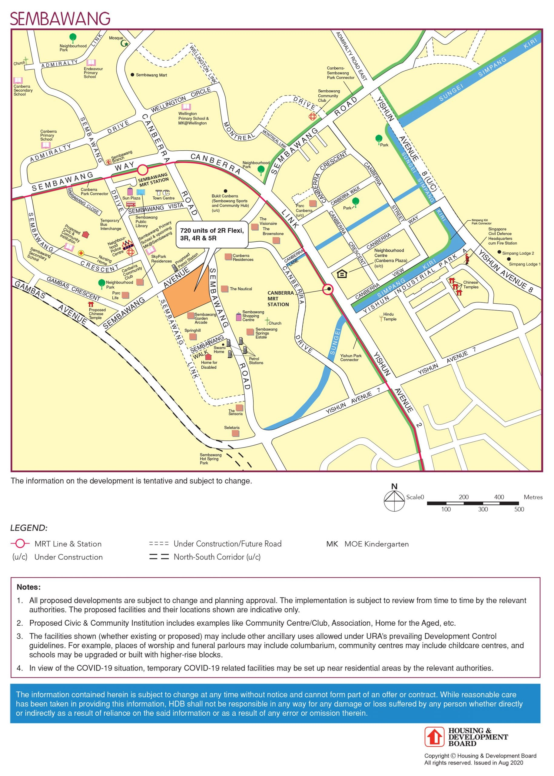 hdb sembawang bto nov 2020 map